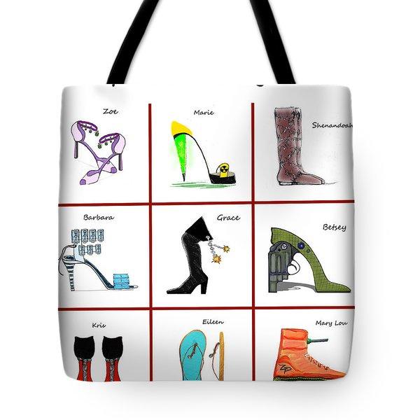 Zapatas Peligrosas Poster Tote Bag