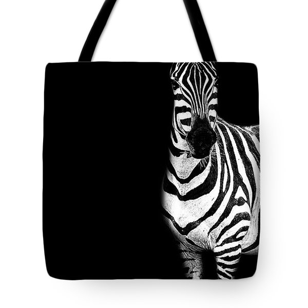 Zebra Drama Tote Bag
