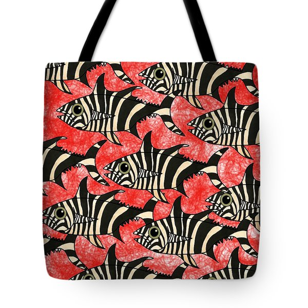 Zebra Fish 5 Tote Bag