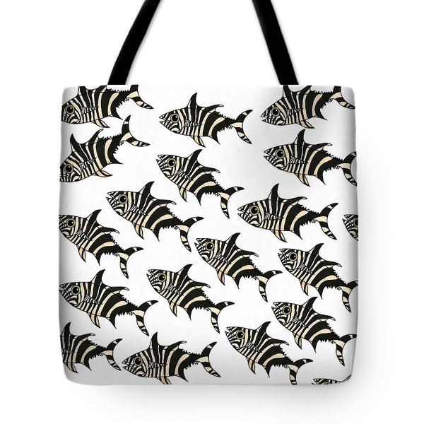 Zebra Fish 7 Tote Bag