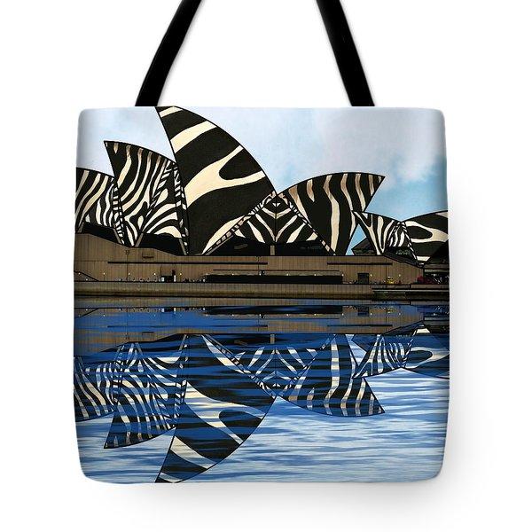 Zebra Opera House 4 Tote Bag