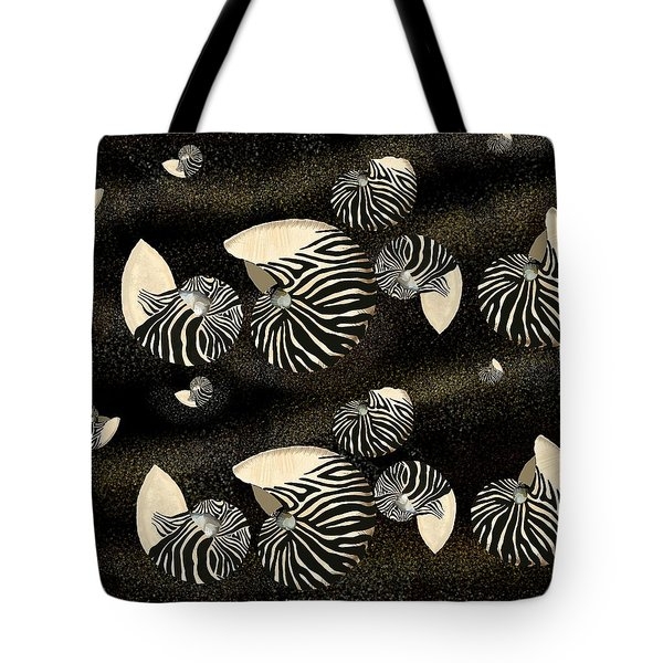 Zebra Pattern Nautilus Shells6 Tote Bag