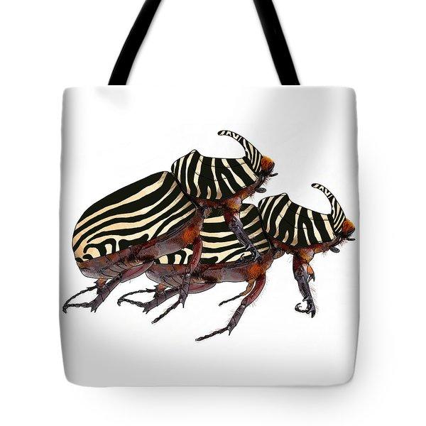 Zebra Pattern Rhinoceros Beetle 2 Tote Bag