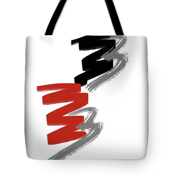 Tote Bag featuring the digital art Zee Paint by Pennie McCracken
