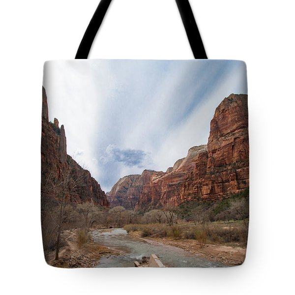 Zion National Park And Virgin River Tote Bag