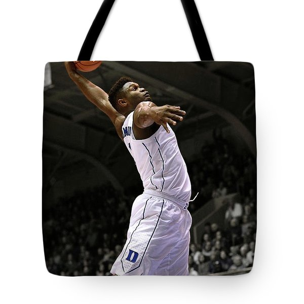 Zion Williamson, Duke, Blue Devils, Ncaa  Tote Bag
