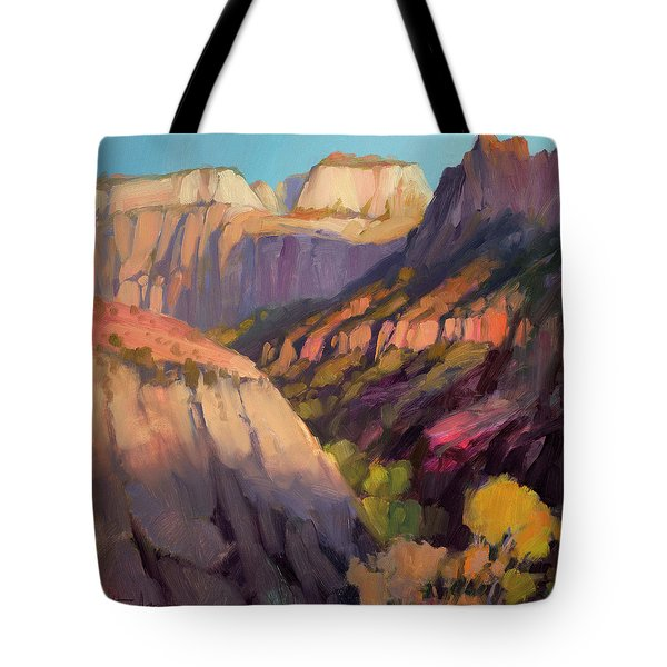 Zion's West Canyon Tote Bag