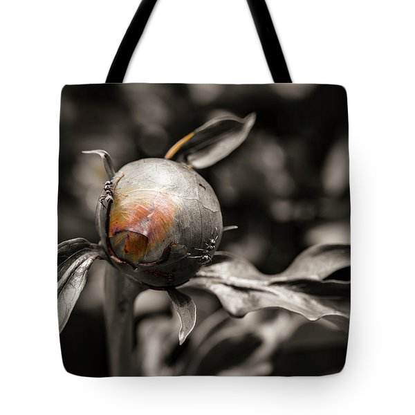Zombie Flower Attacked By Ants Tote Bag