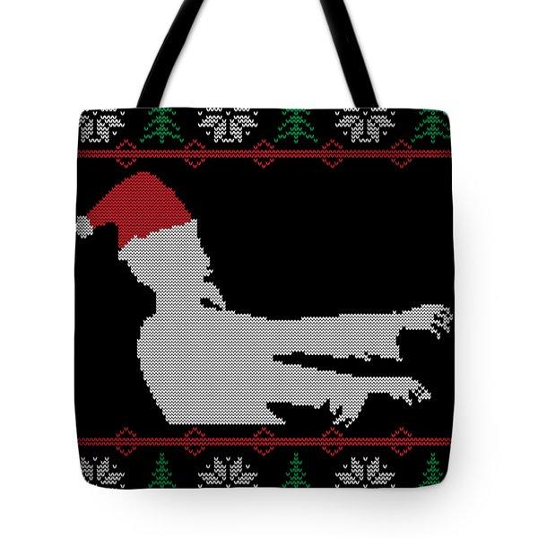 Zombie Santa Ugly Christmas Sweater Tote Bag