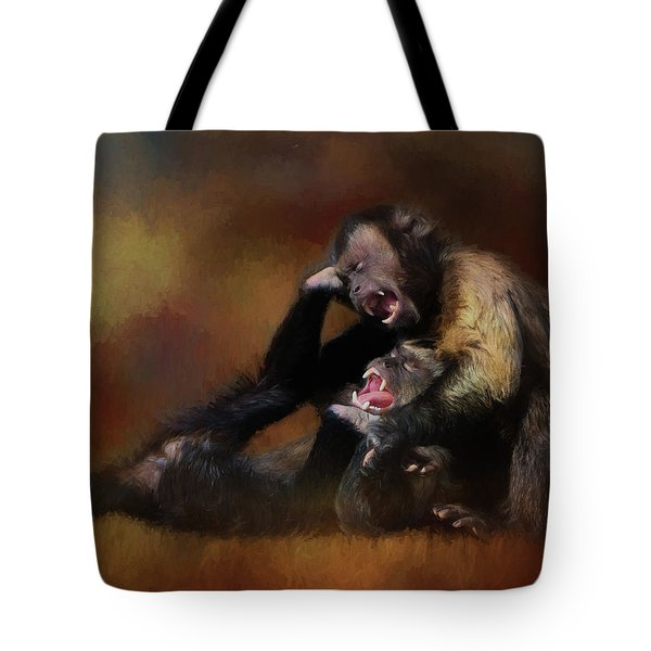 Zoo Monkey's Playing Tote Bag