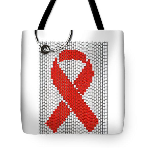 Zulu Bead Aids Ribbon Keyring Tote Bag