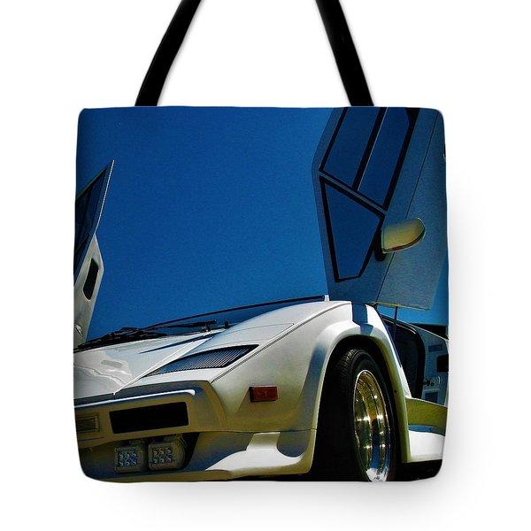 Lamborghini Countach Tote Bags