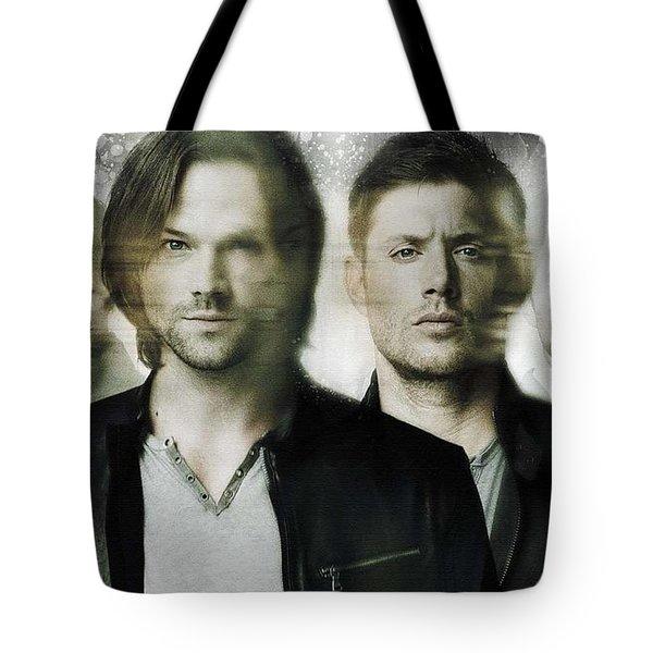 Jared Padalecki portrait Handmade tote bag supernatural Sam Winchester