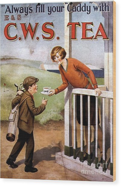 1920s Uk Tea Golf Cws Wood Print by The Advertising Archives