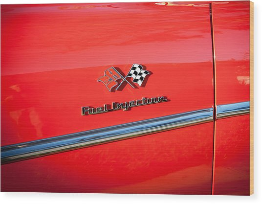 1957 Chevrolet Bel Air 283 Fuel Injected Painted  Wood Print