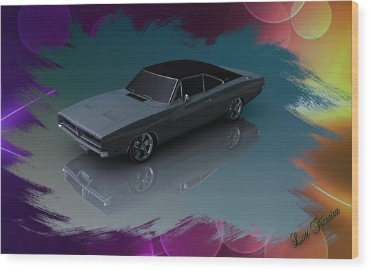 1969 Dodge Charger Wood Print