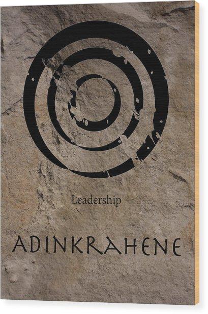 Adinkra Adinkrahene Wood Print