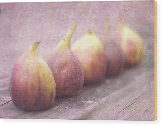 Autumn Mission Figs  Wood Print