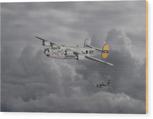 B24 Liberator  446th Bomb Group Wood Print