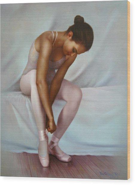 Ballerina 4 Wood Print