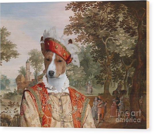 Basenji Art Canvas Print Wood Print