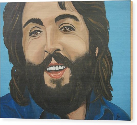 Bearded  Paul Mccartney Wood Print