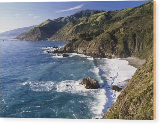 Big Sur At Big Creek Wood Print