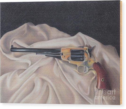 Buffalo Blackpowder Revolver  Wood Print