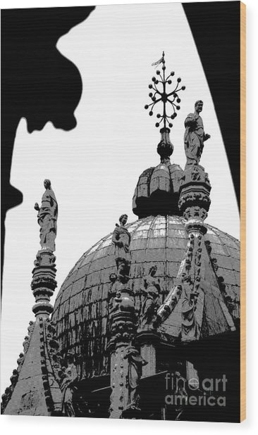 Byzantine Dome Wood Print by Jacqueline M Lewis