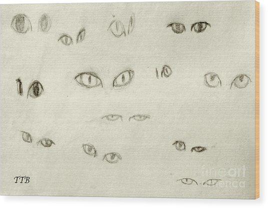 Cat Eyes - 1 Wood Print