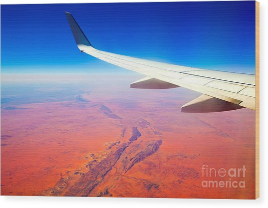Central Australia From The Air  Wood Print