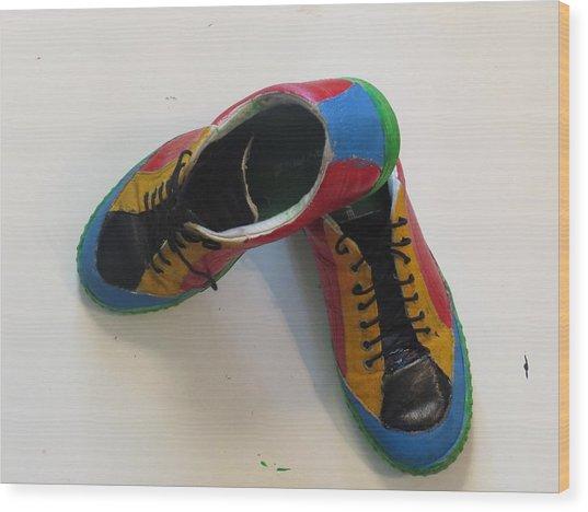 Chaussure Art Wood Print