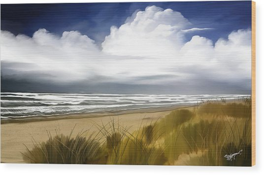 Coastal Breeze Wood Print