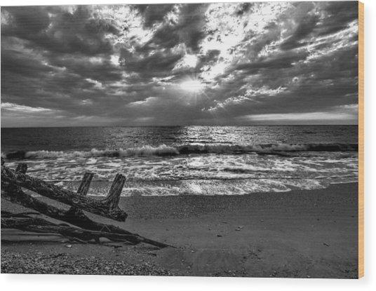 Colorless Sunset Wood Print by Bob Jackson