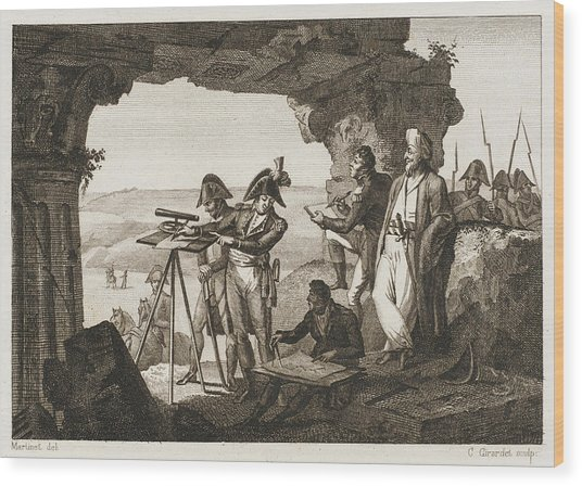 Comte Andreossi Surveys  Antique Sites Wood Print by Mary Evans Picture Library