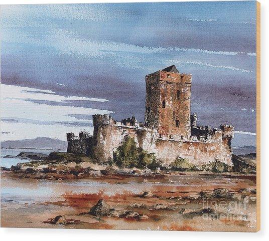 Doe Castle In Donegal Wood Print
