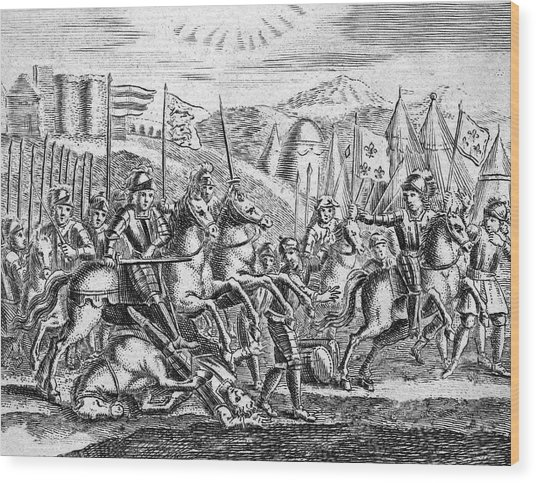 English Soldiers Under Edward  IIi Wood Print by Mary Evans Picture Library