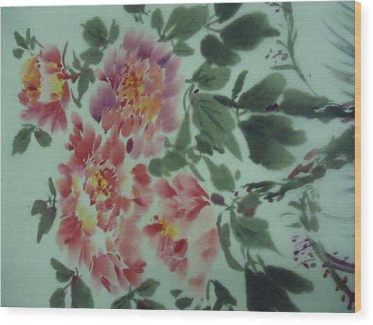 Flower 0725-2 Wood Print