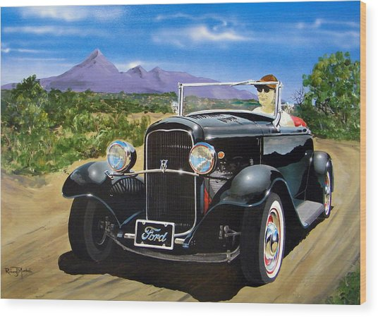 Ford Roadster Highboy Wood Print