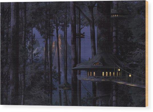 Forest Wood Print by Raphael  Sanzio