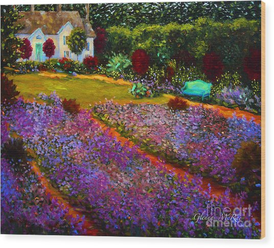 French Palette Of Purple Irises Wood Print