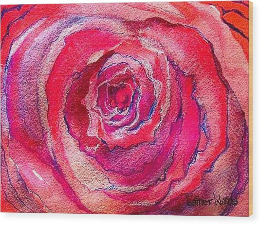 French Pink Wood Print