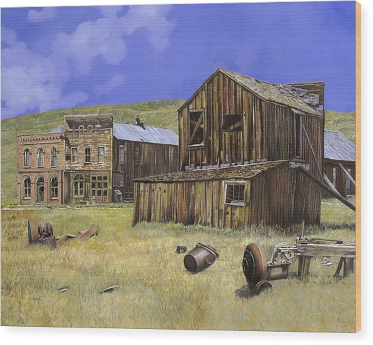 Ghost Town Of Bodie-california Wood Print