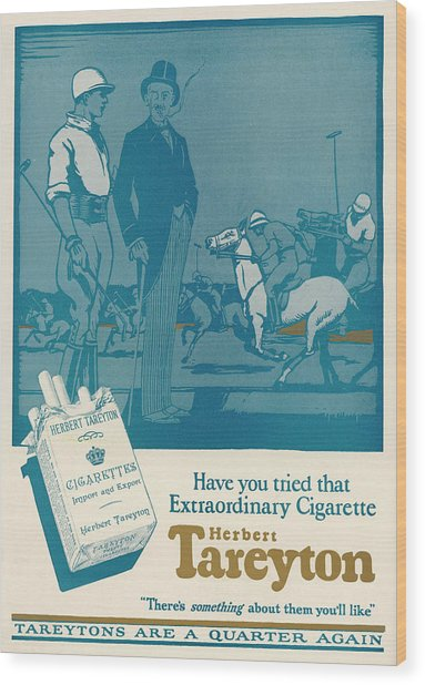 Herbert Tareyton Cigarettes - There's Wood Print by Mary Evans Picture Library