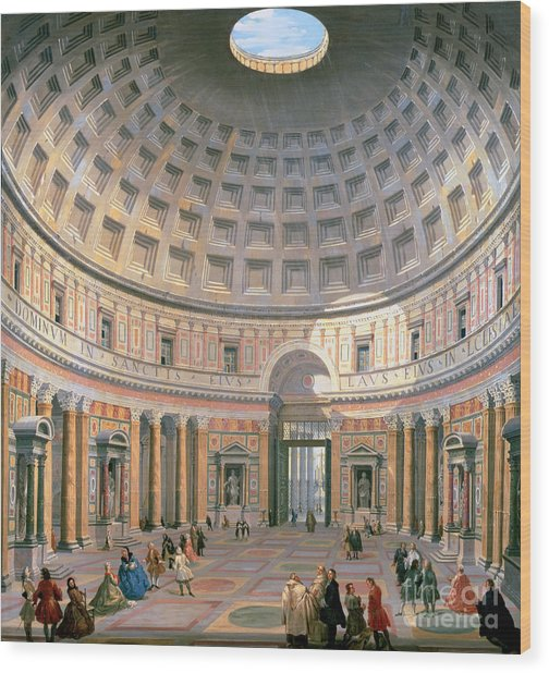 Interior Of The Pantheon Wood Print