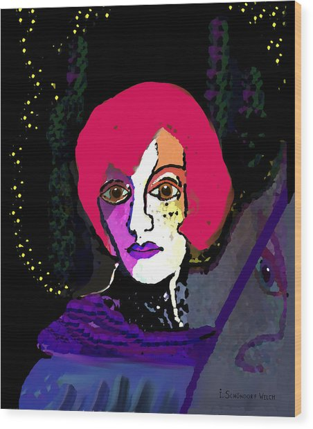 Jeanne - 924 Wood Print by Irmgard Schoendorf Welch