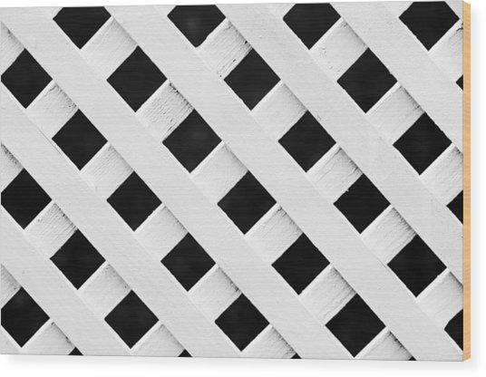 Lattice Fence Pattern Wood Print