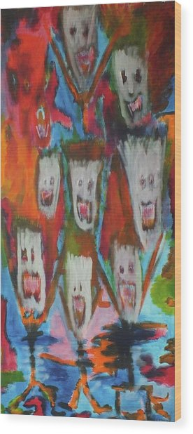 Laughter Wood Print by Randall Ciotti