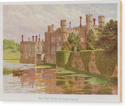 Leeds Castle, Kent         Date 1907 Wood Print by Mary Evans Picture Library