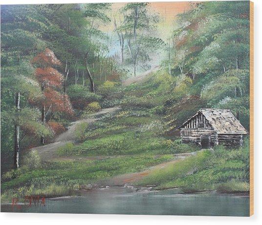 Light Down The River Wood Print